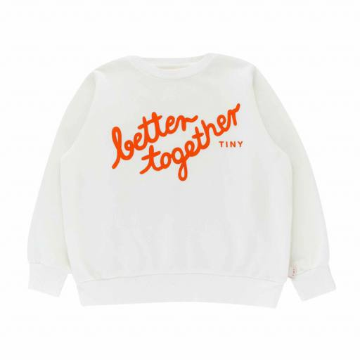 Tinycottons - Sweatshirt ''Better Together'', off-white/red