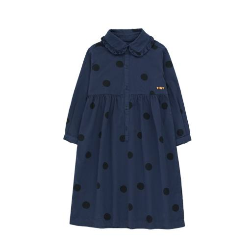 "Tinycottons - ""Big Dots"" Dress light navy/black"