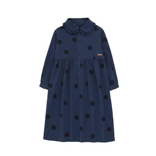 "Tinycottons - ""Big Dots"" Dress light navy/black"