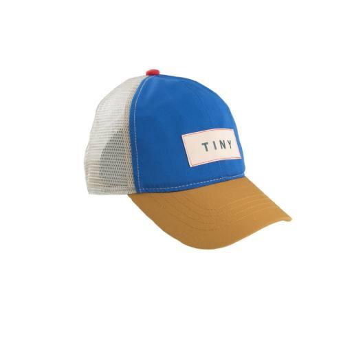 "Tinycottons - Schirmmütze ""Color Block Tiny Cap"", iris blue honey"