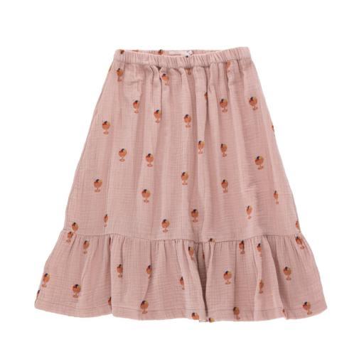 Tinycottons - Rock ''Ice Cream Cup Long Skirt'', dusty pink/papaya