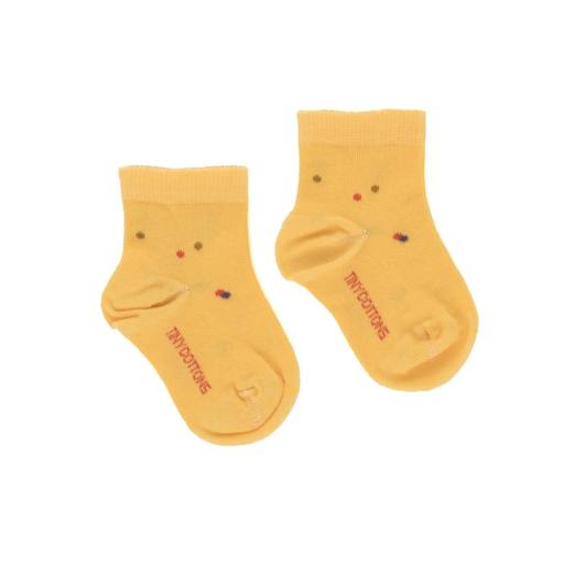 "Tonycottons - Socken ""Ice Cream Dots'', yellow"