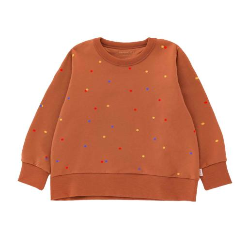 Tinycottons - Sweatshirt ''Ice Cream Dots'', cinnamon