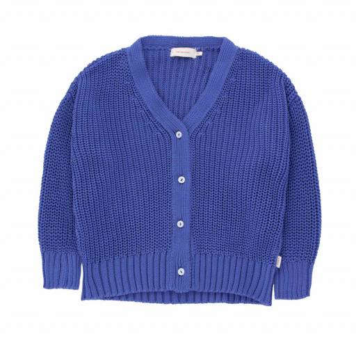 "Tinycottons - Strick Cardigan ""Solid"", iris blue"