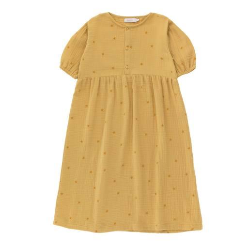 Tinycottons - Kleid ''Starfish Puff'', sand honey