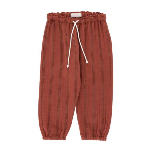 Tinycottons - Hose ''Stripes Baby Pant'', maroon/ink blue