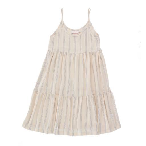 Tinycottons - Kleid ''Stripes Straps'', light cream/iris blue