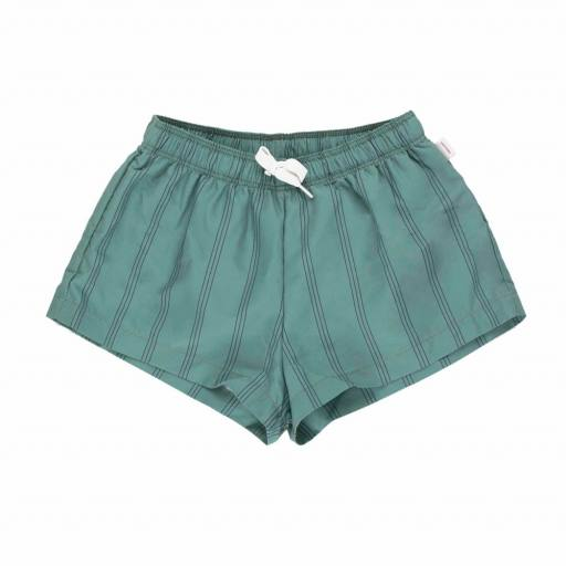 Tinycottons - Badeshorts ''Stripes Trunks'', green/ink blue