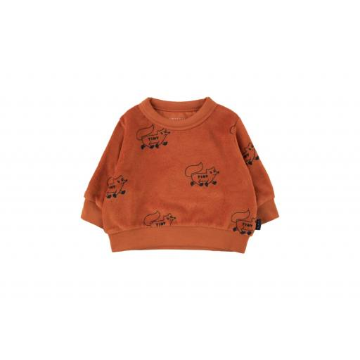 "Tinycottons - Frottee-Sweatshirt ""Foxes"" sienna/navy"