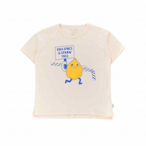 Tinycottons - T-Shirt ''Tiny Activist Tee', light cream/yellow