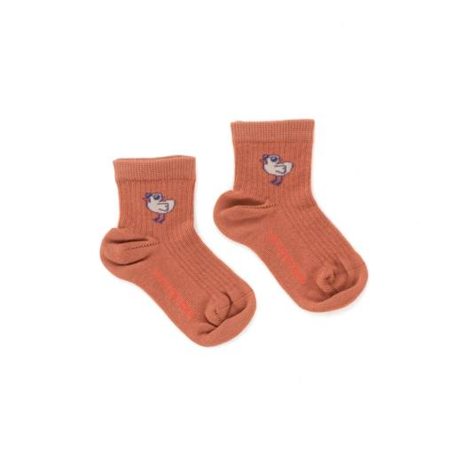 "Tonycottons - Socken ""Tiny Bird'', papaya"