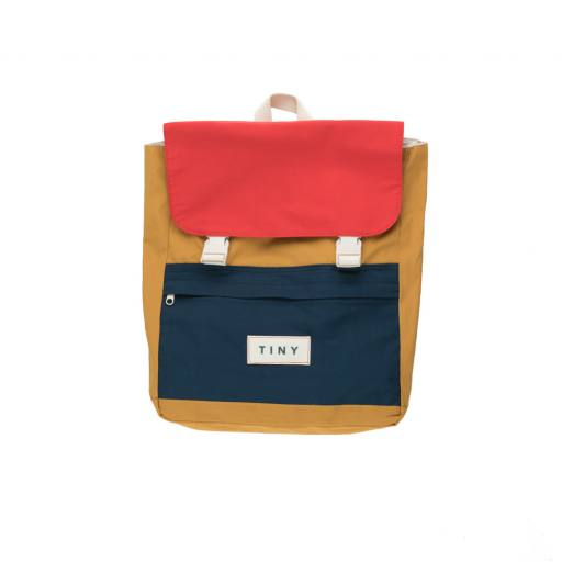 """Tinycottons - Rucksack """"Tiny Color Block Backpack"""", honey"""