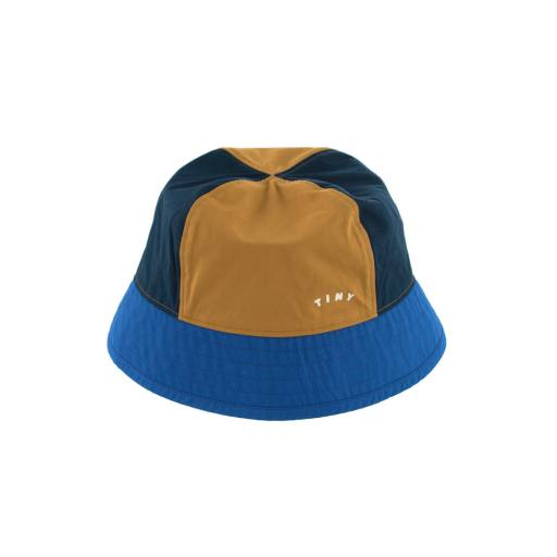"Tinycottons - Hut ""Tiny Color Block Bucket Hat"", ink blue/iris blue"