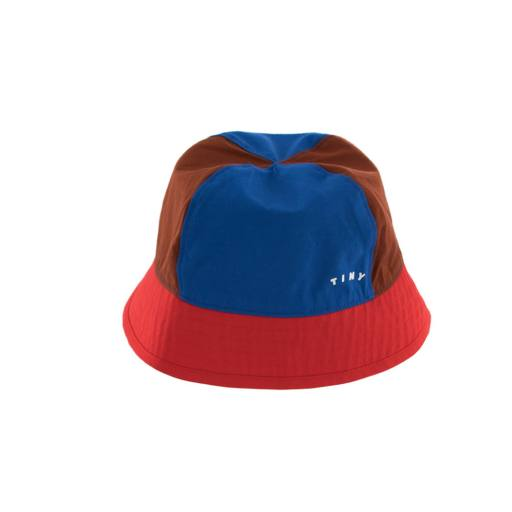 """Tinycottons - Hut """"Tiny Color Block Bucket Hat"""", nut brown/red"""