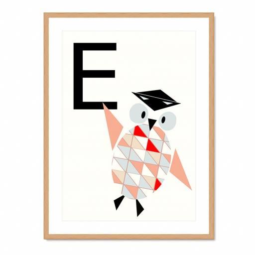"VINTA SERIES - Buchstaben-Plakat ""E"""