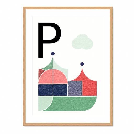 "VINTA SERIES - Buchstaben-Plakat ""P"""