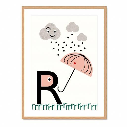 "VINTA SERIES - Buchstaben-Plakat ""R"""
