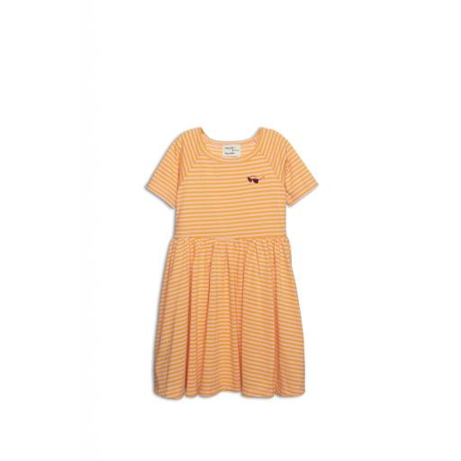 "Wander & Wonder -Kleid ""Marine Dress"", tangerine stripe"