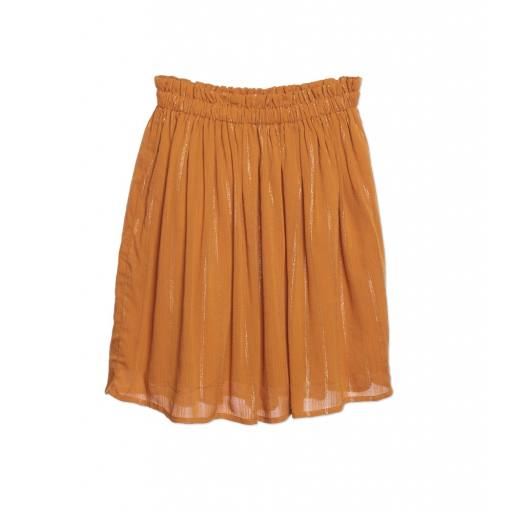 "Wander and Wonder - Rock ""Gathered Skirt"", tumeric lurex"