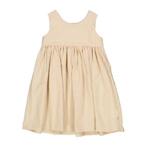 "Wheat - Babykleid ""Pinafore Wrinkles'', taffy stripe"