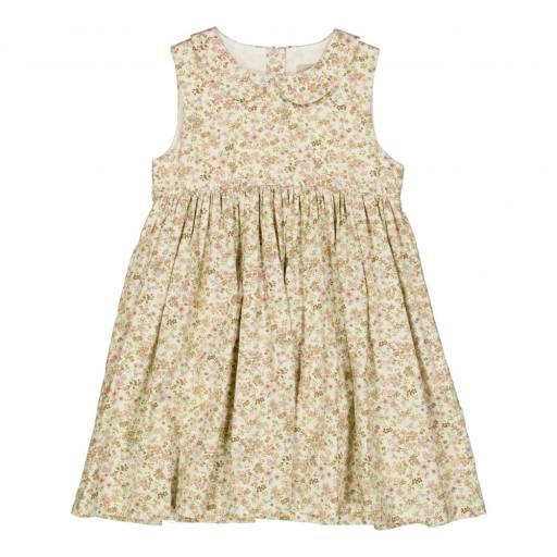 "Wheat - Kleid ""Eila'', eggshell flowers"