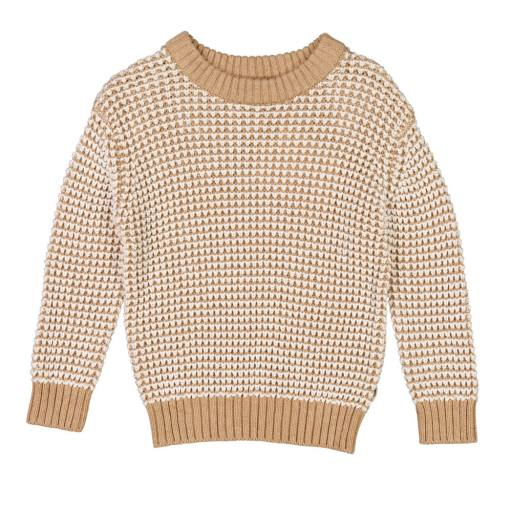 Wheat - Knit Pullover ''Charlie'', sand melange