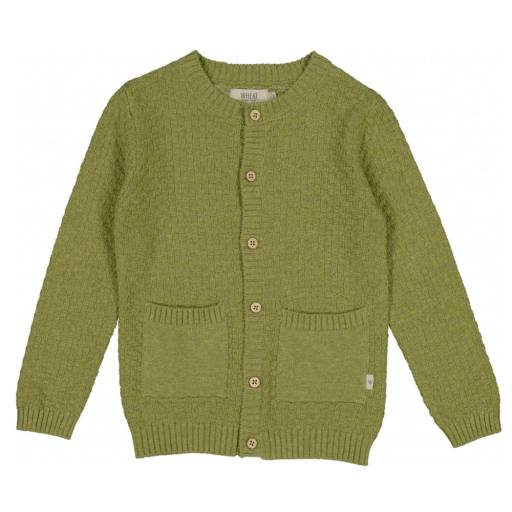 "Wheat - Cardigan ""Knit Cardigan Alf'', green melange"