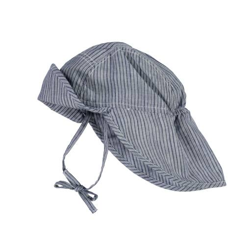"Wheat - Sonnenhut ""Baby Girl Sun Hat"", cool blue stripe"