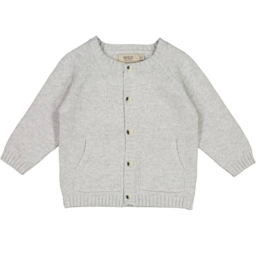 "Wheat - Cardigan ""Knit Cardigan Classic'', grey melange"