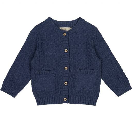 "Wheat - Cardigan ""Knit Cardigan Alf'', blue melange"