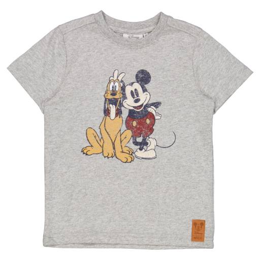 Wheat -T-Shirt ''Mickey And Pluto'', melange grey