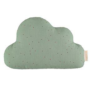Nobodinoz - Wolkenkissen ''Cloud Cushion'', toffee sweet dots/eden green